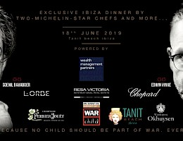 War Child Charity diner op Ibiza op 18 juni 2019